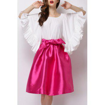 Flounce Ruffles Off The Shoulder Blouse