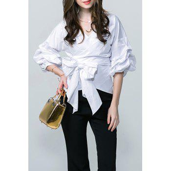 Wrap Bowknot Blouse