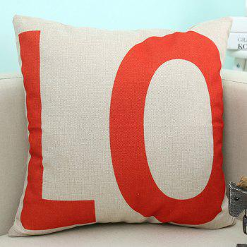Home Decor LO Letter Love Cushion Linen Pillow Case