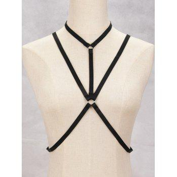 Geometric Harness Bra Bondage Necklace Cross Body Jewelry
