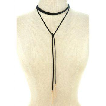Choker Ribbon Sweater Chain - BLACK BLACK