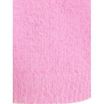 Beading Raglan Sleeve Sweater - LIGHT PINK 4XL