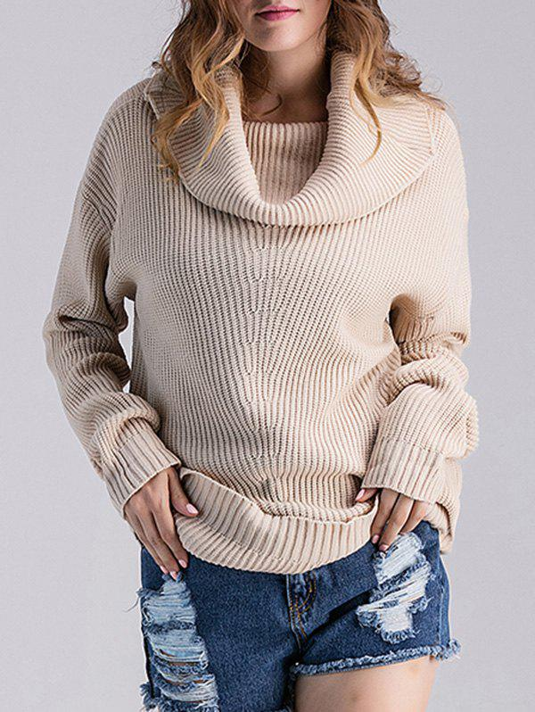 Cowl Neck Ribbed Knit Sweater women work dress longsleeve spring new european station grid pencil skirt fake two professional dress l13