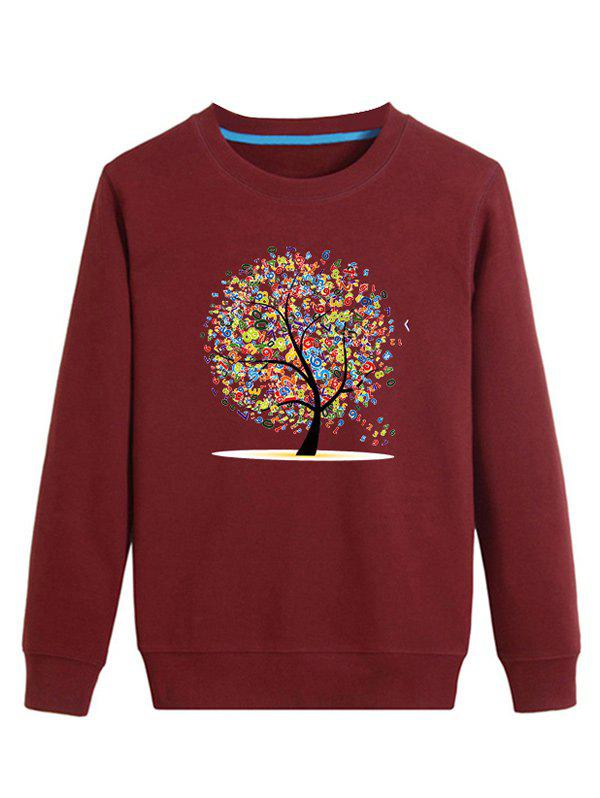 Letter Tree Print Long Sleeve Sweatshirt letter print long sleeve sweatshirt dress page 1