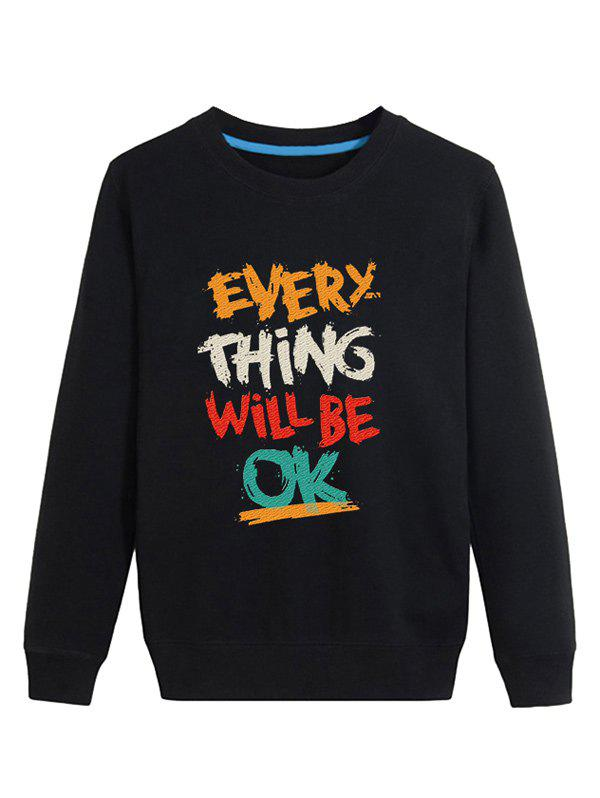 Color Block Graphic Printed Long Sleeve Sweatshirt color block graphic printed crew neck long sleeve sweatshirt