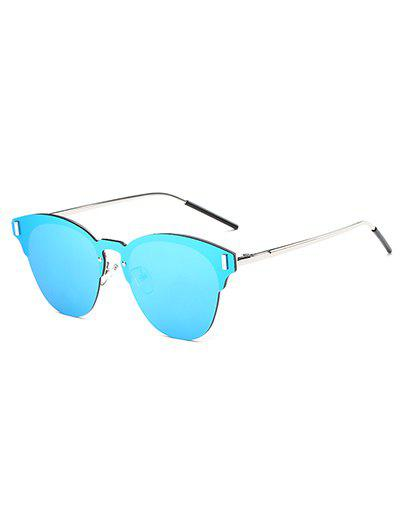 Travel Butterfly Shaped Mirrored Sunglasses travel double nose bridges oval mirrored sunglasses