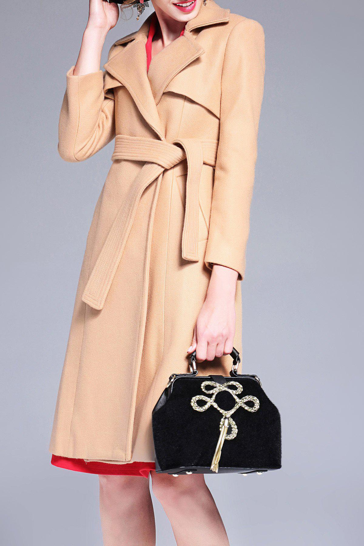Wool Blend Longline Belted Coat от Dresslily.com INT