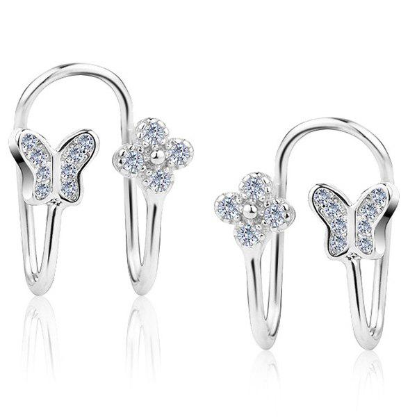 Silver Plated Clip Earrings Without Piercing диски helo he844 chrome plated r20