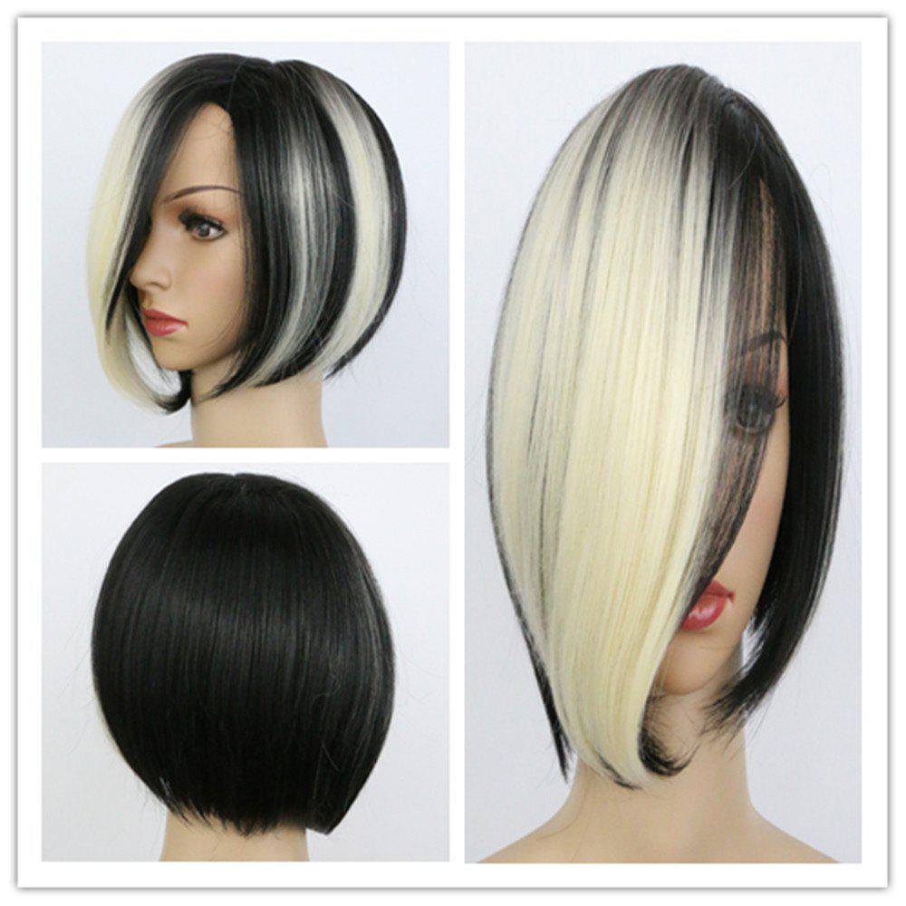 Fashion Women's Short Mixed Color Side Parting Synthetic Hair Wig - COLORMIX