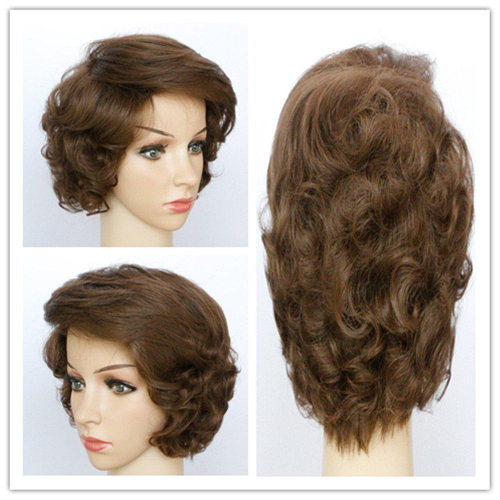 Elegant Short Synthetic Fluffy Natural Wave Light Brown Capless Wig For Women - LIGHT BROWN