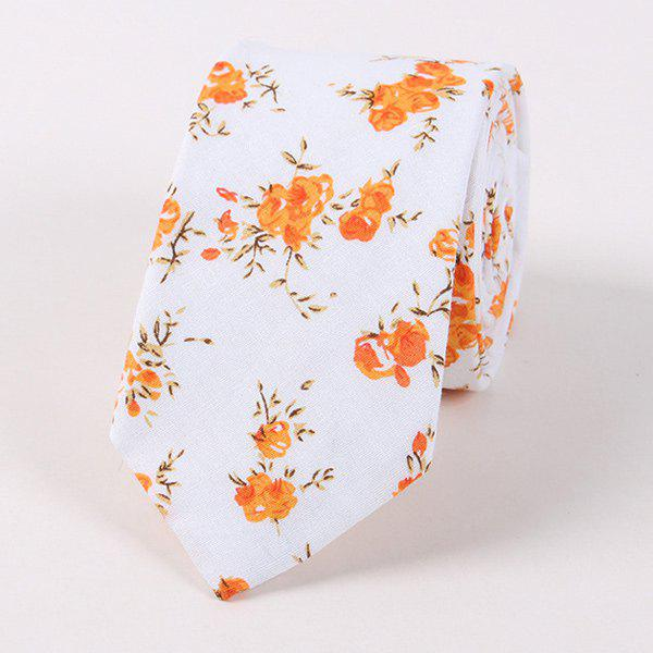 Mariage floral 6cm Largeur cravate - Orange