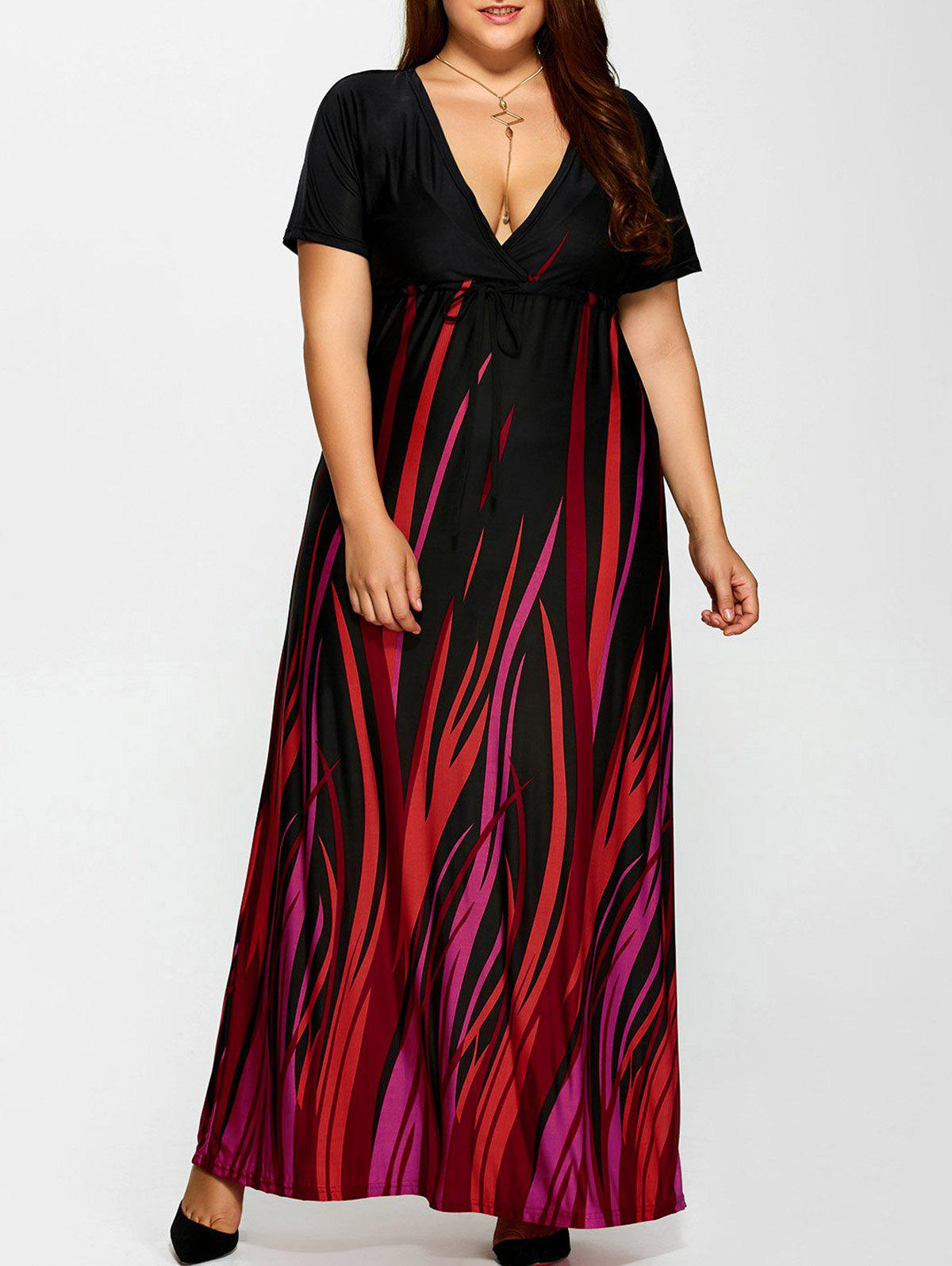 Plus Size Printed Empire Waist Maxi Formal A Line Party Dress iolani plus size new teal printed empire waist maxi dress 2x $114 dbfl
