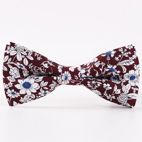 Casual Floral Shivering Printed Bow Tie casual floral printed neck tie