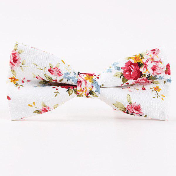 Wedding Party Floral Pattern Bow Tie - RED