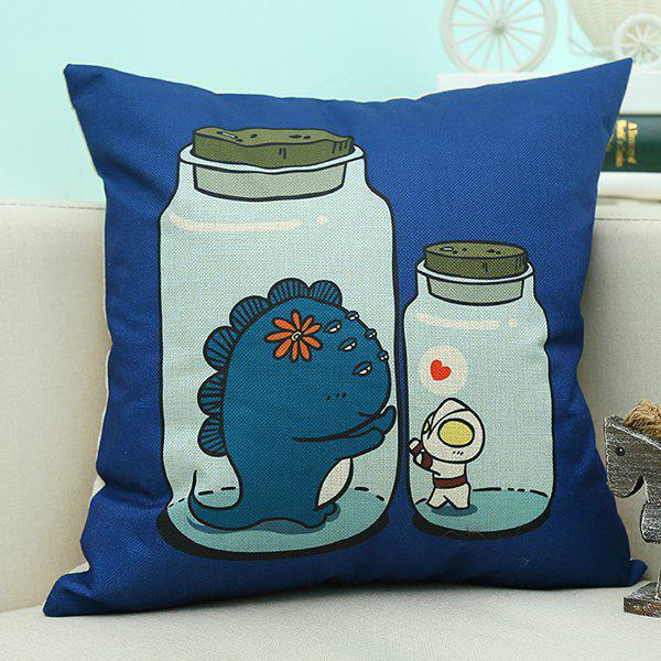 Home Decor Cartoon Bottles Printed Cushion Linen Pillow CaseHome<br><br><br>Color: BLUE