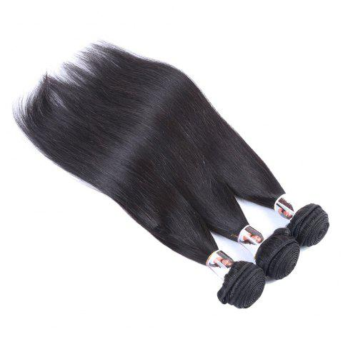 3 Pcs 7A Virgin Indian Straight Hair Weaves - BLACK 10INCH*10INCH*10INCH