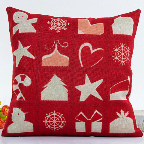Household Merry Christmas Pillow Case - RED