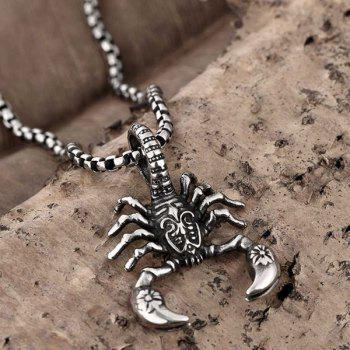 Polished Scorpion Necklace - SILVER