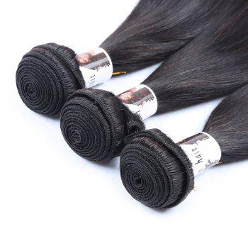 3 Pcs 7A Virgin Indian Cheveux raides Tissages - Noir 10INCH*10INCH*10INCH