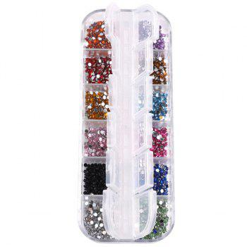 12 Colours Decoration Manicure Nail Art Rhinestones - COLORMIX COLORMIX