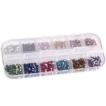 12 Colours Decoration Manicure Nail Art Rhinestones -  COLORMIX