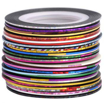 30 Colours Nail Art Stickers Nail Art Strip Tapes -  COLORMIX