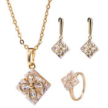 Clover Square Ornate Necklace Set