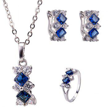 Elegant Rhombus Necklace Set