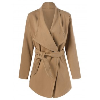 Wool Wrap Coat With Belt