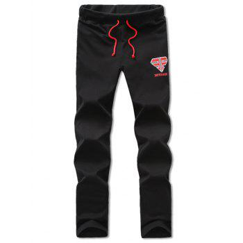 Lace Up Comfortable Embroidered Narrow Feet Pants