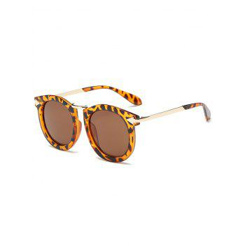 Cool Arrow Mark Leopard Pattern Oval Sunglasses