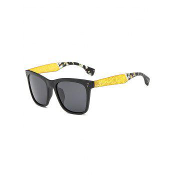 Cool Crack and Camouflage Panel Golf Sunglasses