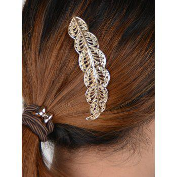 Buy Hollow Leaf Hairpin GOLDEN