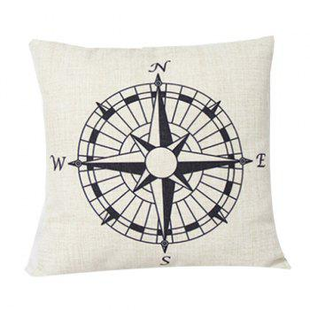 Home Decor Compass Pattern Cushion Linen Pillow Case