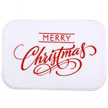 Room Decor Fleece Antislip Christmas Doormat Carpet - WHITE WHITE