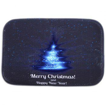 Room Decor Fleece Antislip Merry Christmas Doormat Carpet