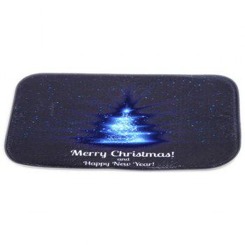 Room Decor Fleece Antislip Merry Christmas Doormat Carpet -  BLUE