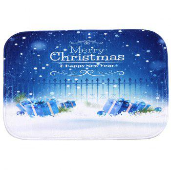 Antislip Merry Christmas Snowflake Room Decor  Doormat Carpet