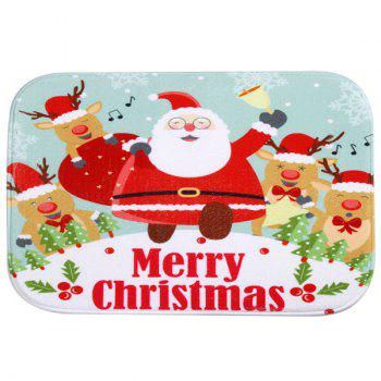 Antislip Merry Christmas Santa Claus Room Decor Doormat Carpet - COLORFUL COLORFUL
