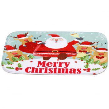 Antislip Merry Christmas Santa Claus Room Decor Doormat Carpet -  COLORFUL