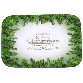 Antislip Merry Christmas Tree Room Decor Doormat Carpet - GREEN GREEN