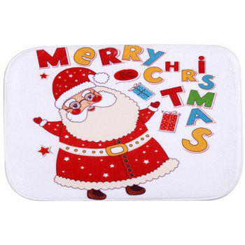 Christmas Santa Claus Antislip Fleece Room Decor Doormat Carpet - RED RED