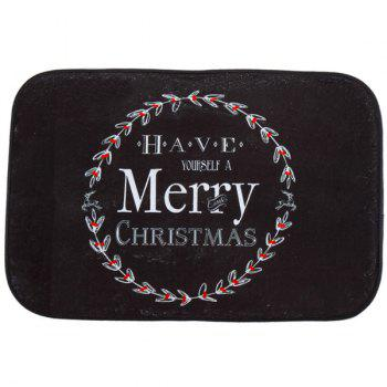 Merry Christmas Antislip Fleece Room Decor Doormat Carpet