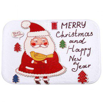 Antislip Merry Christmas Santa Room Decor Doormat Carpet - WHITE WHITE