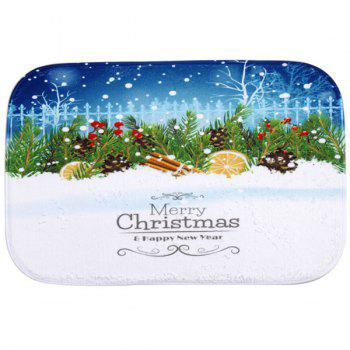 Winter Snow Antislip Fleece Room Christmas Decor Doormat Carpet