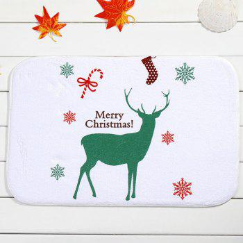 Antislip Merry Christmas Deer Room Decor Fleece Doormat Carpet