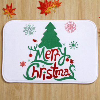 Antislip Merry Christmas Tree Room Decor Fleece Doormat Carpet
