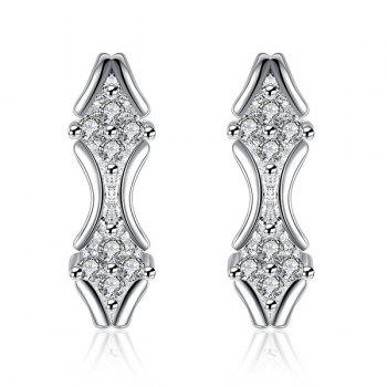 Emboss Rhombus Earrings