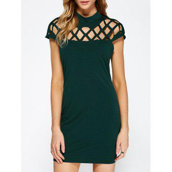 Hollow Out Bandage Bodycon Cocktail Dress