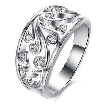 Rhinestone Hollow Out Ring